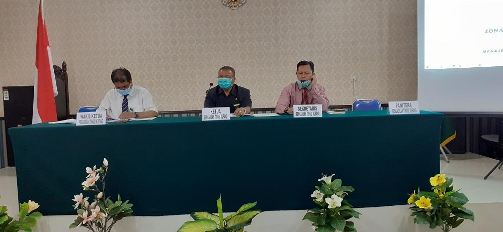 Rapat Monitoring dan Evaluasi pelaksanaan Zona Integritas Pengadilan Tinggi Kupang