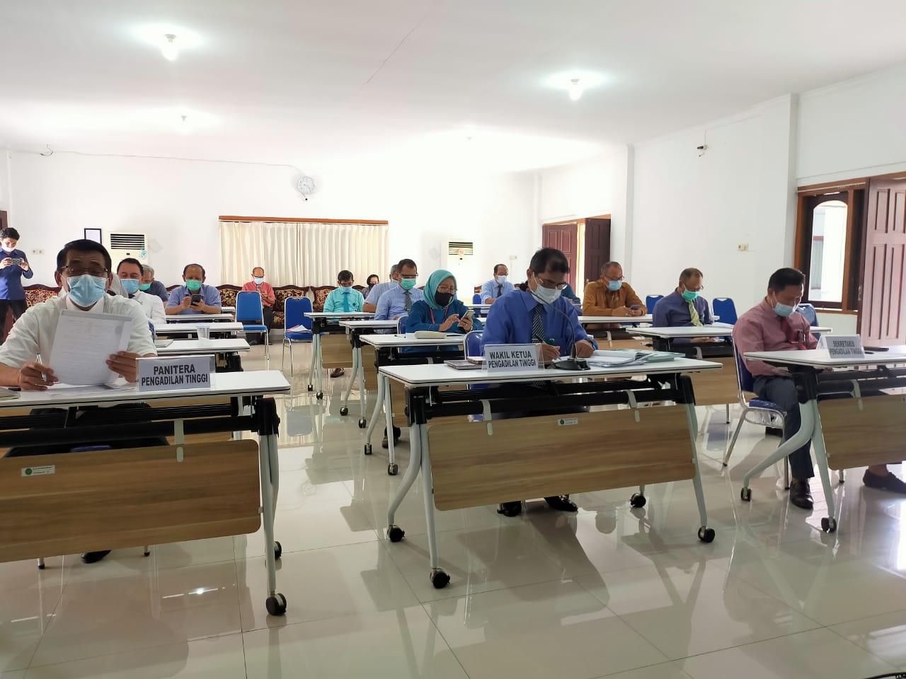 Pembinaan Bidang Teknis Dan Administrasi Yudisial Oleh Pimpinan Mahkamah Agung RI Secara Daring