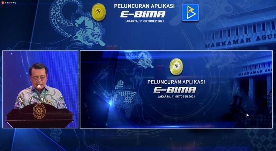 Peluncuran Aplikasi E-BIMA oleh Ketua Mahkamah Agung R.I.